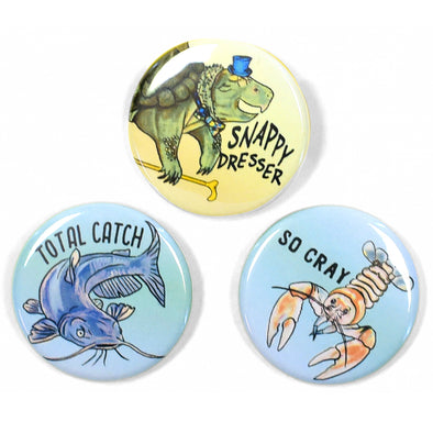 "Aquatic Friends 1.25"" Pinback Button Set"