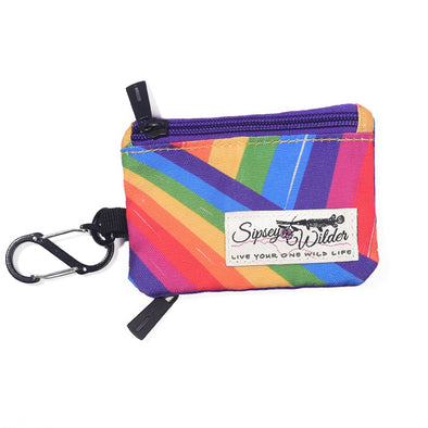 Rainbow Slash Clip Wallet