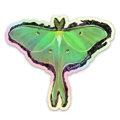 Holographic Luna Moth Sticker