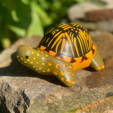 Hand-Carved Box Turtle Ornament