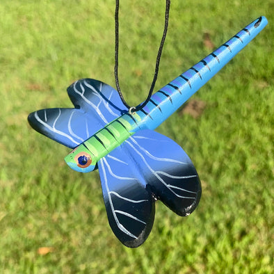 Hand-Carved Dragonfly Ornament
