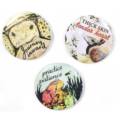 "Wild Wisdom 1.25"" Pinback Button Set 1"
