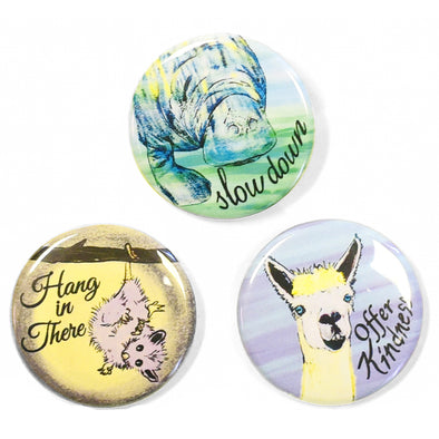 "Wild Wisdom 1.25"" Pinback Button Set 2"