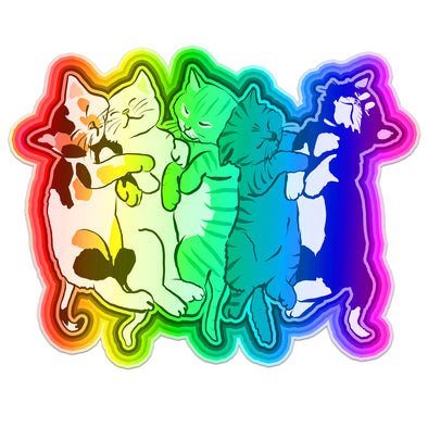 Rainbow Kittens Vinyl Sticker