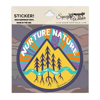 Nurture Nature Vinyl Sticker