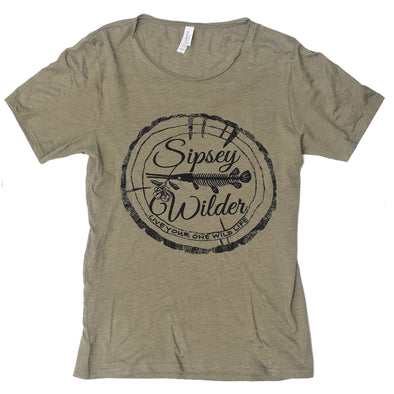 Sipsey Wilder Unisex Raw Neck Logo Tee