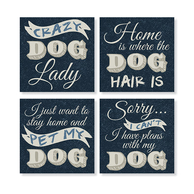Dog Gone Crazy Stone Coaster Set
