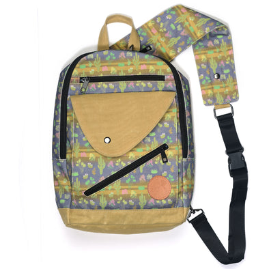 Cactus Bloom Sling Backpack