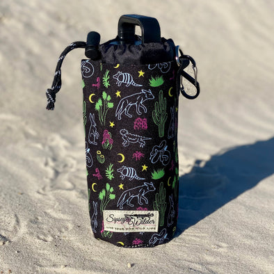 Neon Desert Water Bottle Holder