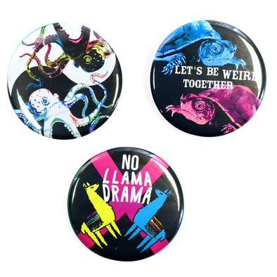 "Wild & Weird 1.25"" Pinback Button Set 1"