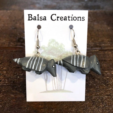 Armadillo Balsa Earrings