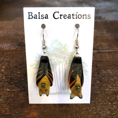 Bat Balsa Earrings