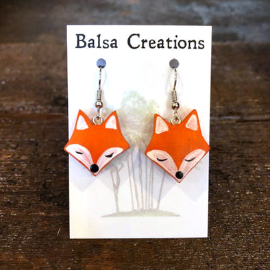 Fox Balsa Earrings