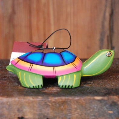 Hand-Carved Turtle Ornament