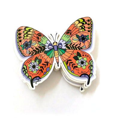 Patterned Butterly Vinyl Sticker
