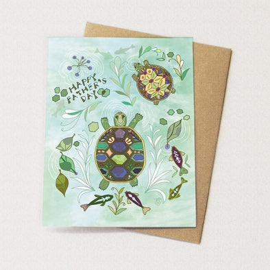 Father's Day Turtle Pond Card