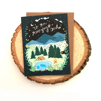 Dad Camping Card - Father's Day Card