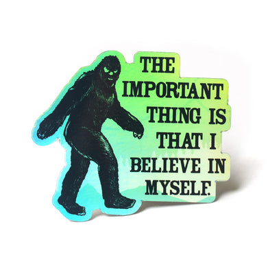 Holographic Bigfoot Sticker