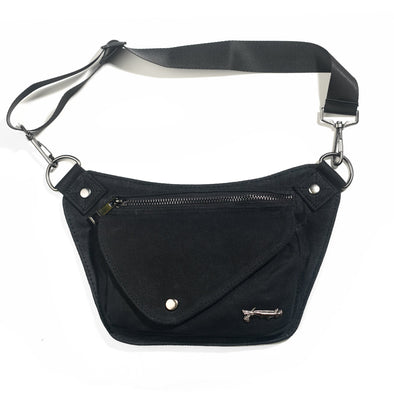 Raven Black Lux Hip Pouch