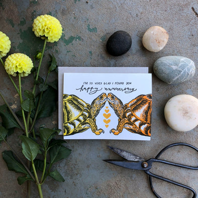 Box Turtles Anniversary Card