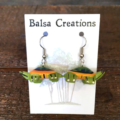 Turtle Balsa Earrings