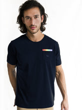Navy Blue Rainbow Pocket Detail T-shirt PRE-ORDER