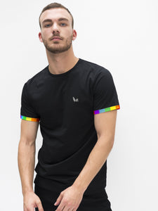 Black Rainbow Sleeve T-shirt