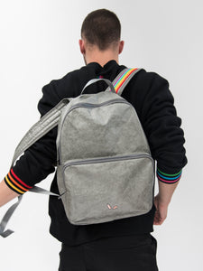 London Rain-proof Backpack Back with Model