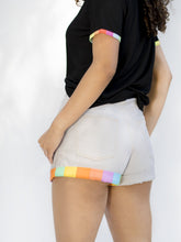 California Light Grey Short Shorts