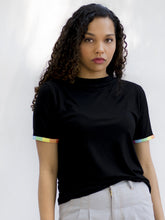 California Rainbow Sleeve Black Tee