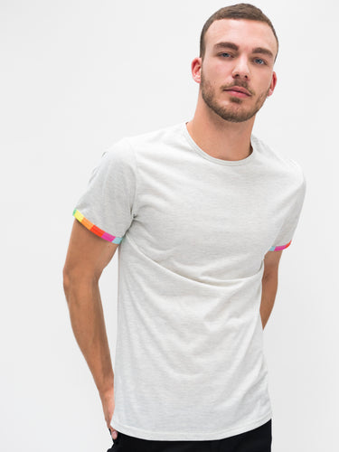 Venice T-shirt - Rainbow Sleeve