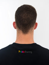 Text logo PrideBunny rainbow black sweatshirt gay lgbt