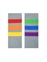 Pride Socks PrideBunny Grey Striped Rainbow Socks