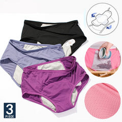 Image of 3pcs Leak Proof Menstrual Panties