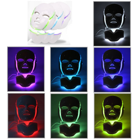 7 Color Photon Electric LED Photon Facial Mask - Natural Remedies Direct