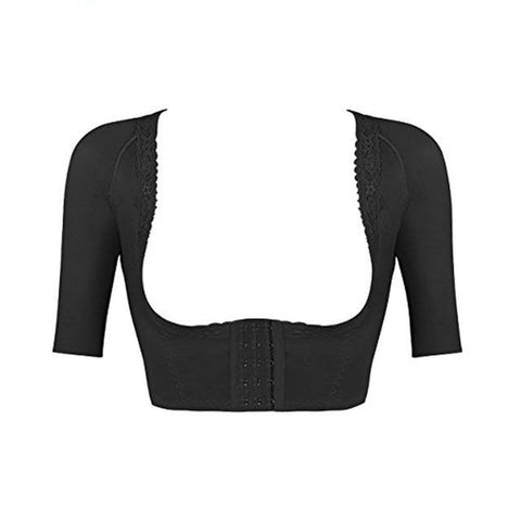 Women's Short Sleeve Compression Slimming Crop Top & Posture Corrector - Natural Remedies Direct