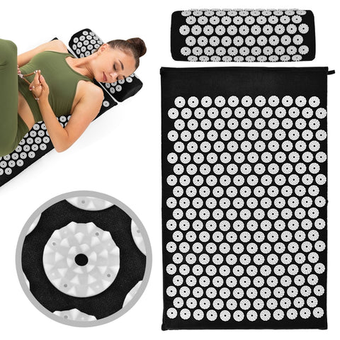 Acupressure Massage Yoga Mat with Cushion - Natural Remedies Direct