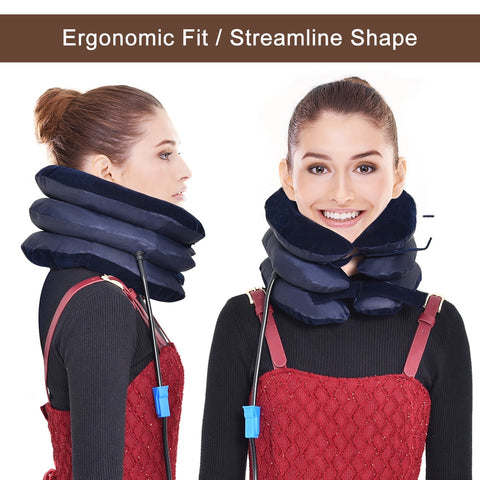 Inflatable Neck Traction Collar Brace - Natural Remedies Direct