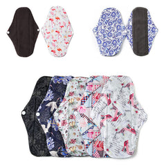 Image of 6 PCS Reusable Bamboo Cloth Menstrual Sanitary Pads