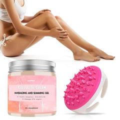 Anti Cellulite Massage Brush and Cream