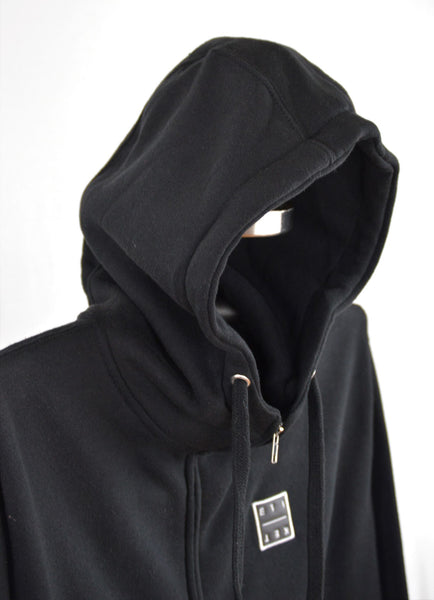 BASIC ETIKET FULL ZIP HOODIE [BLACK]