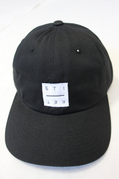 ETIKET Resort Cap (dad hat) - Black