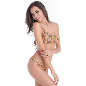 Evelyn One Shoulder Bralette Floral Bikini Set