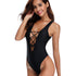Aria Solid Low Back One Piece Swimwear
