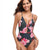 Elena Tropical Flowered One Piece Swimsuit
