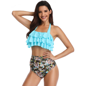 Sofia Underwired Flounce Top With High Waist Bikini
