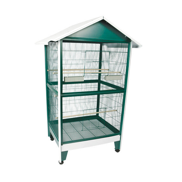 A&E Large Pitched Roof Aviary Bird Cage