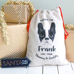 Get Your Christmas Dog Sacks and Christmas Dog Stockings Personalised