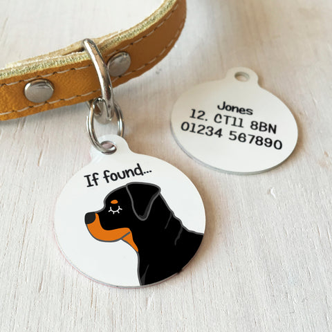 rottweiler dog tag and rottie dogs tags hoobynoo