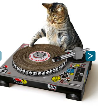 cat dj, scratch disk, cat scratching toy, christmas gifts for cats